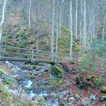 Bei dieser Brücke beginnt der Aufstieg zum Windhagkogel