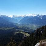 Blick vom Gipfel des Predigtstuhls