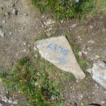 An dieser Stelle zweigt der Weg zum Arche Gipfel ab