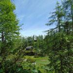 Pause mit Traum-Aussicht bei der Hütte