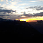 Beginnender Sonnenuntergang bei den 5 Fingers