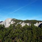 Der Gipfel der Trisselwand ist nun schon nahe gerückt - es ist gut zu erkennen, dass es nicht mehr allzu viele Höhenmeter sind, die uns vom Gipfel trennen