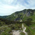 Wegverlauf Richtung Wildensee