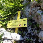 Wahl zwischen Westgrat und Normalweg (letzteres empfehlenswert)