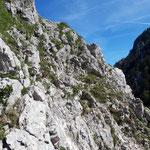 Kletterpassagen zum Kleinen Schoberstein