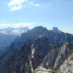 Gosaukamm, Bischofsmütze und Dachstein Gletscher