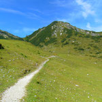 Beginn des Wegverlaufs - vor uns der Arche Gipfel