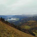 Ausblick am Weg über den Wolfgangsee