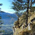 Beeindruckende Tiefblicke Richtung Grünau