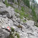 Der nächste Wegabschnitt führt über Felsen - für mich definitiv der schönste Teil!