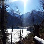 Ausblick über den Almsee und Richtung Totes Gebirge
