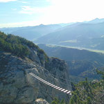 Hängebrücke des Stoderzinken Klettersteigs