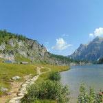 Blick zurück während der Weiterwanderung zur Tappenkarseehütte