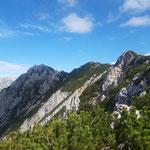 Der Grat hin zu Kitzstein und Bosruck in seiner ganzen Pracht