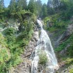 Kreealm-Wasserfall - gleich zu Beginn der Tour
