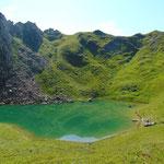 Gleich waren wir angekommen - an diesem See konnte ich mich kaum sattsehen