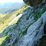 Steiniger Wegverlauf
