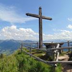 Am Lichtensteinkopf Gipfel angekommen
