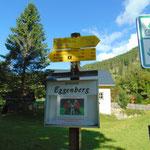 Beschilderung Richtung Steyrerhütte gleich von Beginn an