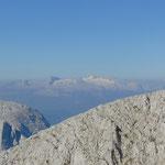 Auch dieser Anblick ist allgegenwärtig - der Dachstein Gletscher