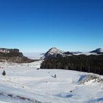Ausblick Richtung Norden ins Alpenvorland