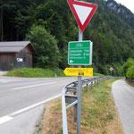 Los geht's - zunächst entlang des Berg-Seen Trails