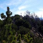 Der Gipfel vom Trapez in Sicht