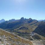 Ausblick auf das umliegende Gebirge