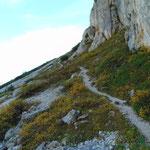 Wegverlauf des Abstieges