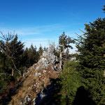 Am Gipfelgrat angekommen