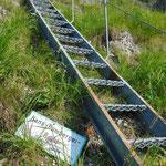 Über 89 Stufen geht es schnell aufwärts - 20 Höhenmeter in etwas über einer Minute