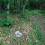 Kleine Steinmännchen markieren den Weg
