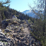 Blick vom Gipfel in Richtung des Höllengebirges