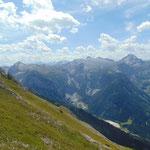 Letzter Anstieg zum Schwarzkopf Gipfel