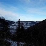Ausblick Richtung Norden - über dem Alpenvorland liegt der Nebel
