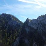 Blick hin zum Großen Schoberstein und Mahdlgupf