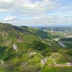 Blick Richtung Ternberg und hinein ins Alpenvorland