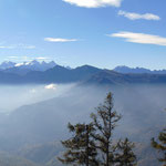 Blick auf Dachstein Gletscher und Gosaukamm