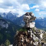 Gipfelsteinmännchen am Hagstein