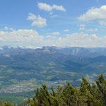 Ausblick auf das Tote Gebirge, das Loser Areal, die Trisselwand
