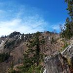 Alle drei Gipfel in Sicht - Steineck, Jacksonstein, Trapez (von rechts nach links)