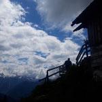 Raschberghütte - im Hintergrund der Dachsteingletscher