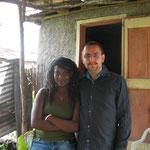 Tallia et Josué qui m'ont accompagné pour faire l'état des lieux
