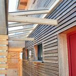 Lichteinfall im Wohnraum durch Glasflächen