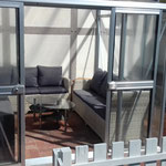 Lounge für kältere Tage im Glashaus