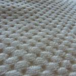 薄手市松綿毛布のアップ