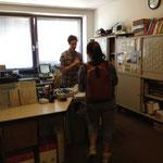 クラスルームに隣接している事務局。相談に来る生徒さんが途絶えることはありませんでした