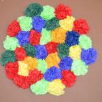 2.Kl. Serviettenblumen