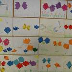 2.Kl. Schmetterlinge/Faltarbeit