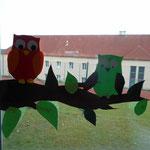 2.Kl. Eulen- Fensterbild
